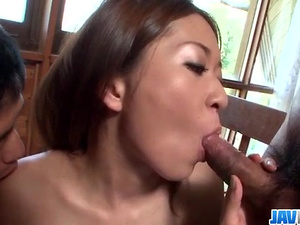 Marin Koyanagi, skinny babe, threesome hardcore on cam  - More at javhd.net
