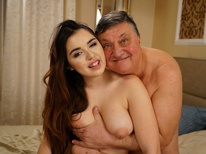 Busty Teen For Grandpa