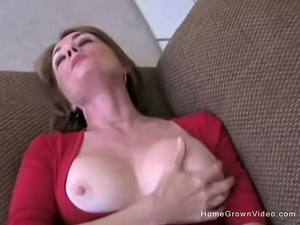 Slutty wife gets fucked by her husband and his friend