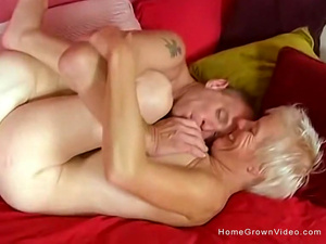 My busty blonde wife is such a great cum dumpster