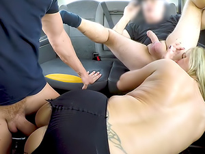 Greedy blonde MILF wants two cocks