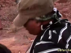 african interracial threesome safari sex