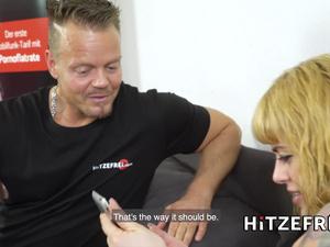 HITZEFREI German tattooed slut has her holes penetrated
