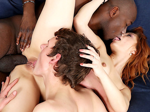 Redhead Wife Jennifer Red Rides BBC Anally and Makes Cuckold Eat Creampie