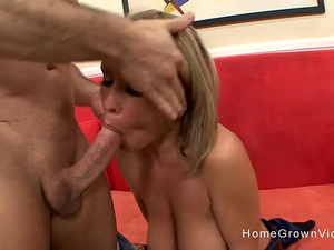 Big tit blonde babe wants her tight pussy pounded hard