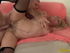Mature Slut Cristine Ruby Has Her Hairy Pussy Pounded by a Geezer