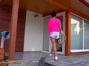 teen rough nuru fucked by her poolboy