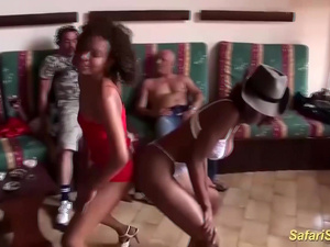 african interracial groupsex party