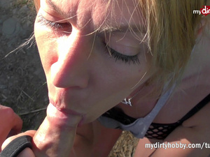 MyDirtyHobby - Blonde amateur does anal in nature
