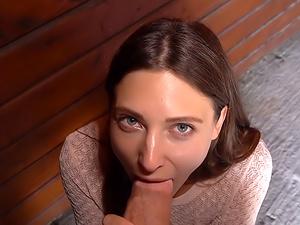 Sexy public suck and fuck challenge