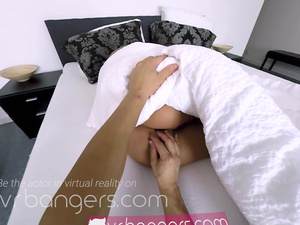 VR BANGERS Sleeping girl gets fingered in the morning