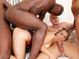 Amelie Matis Has All of Her Fuckholes Destroyed in a Wild BBC Gangbang