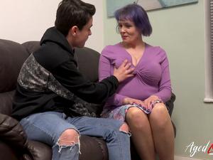 AgedLovE Busty British Mature Fucks Teenage Guy