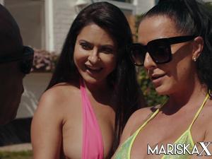MARISKAX Mariska and Texas Patti pay the rent with sex