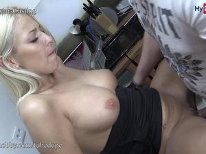MyDirtyHobby - Busty waitress fucks her boss at work