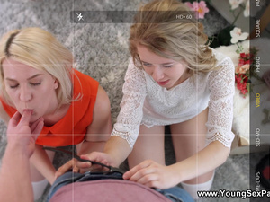 Young Sex Parties - Aurora Sky - Threesome sex with bisex teens
