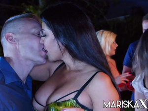 MARISKAX Big tit babe Nelly Kent ass fucked at a party