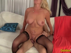 Golden Slut - Horny Grandmas Sitting on Big Cocks Compilation
