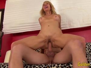 Golden Slut - Taking Cock in Her Mature Twat Compilation