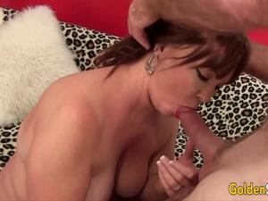 Golden Slut - Older Ladies Tasting Cock Compilation