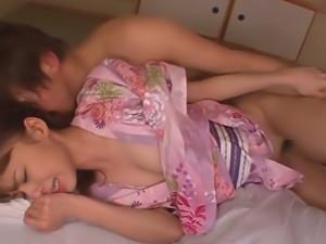 Slim Teen Aino Kishi Fucked Hard In Her Silk Kimono