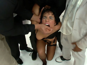The leading starlet gets taken down. First gang bang!