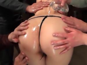 Nana Aoyama Japanese Beauty With Big Tits In Hot Gangbang