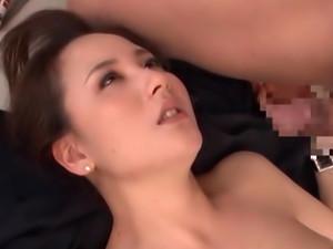 Kaori Saejima Arousing Asian Office Lady Is Into A Threesome