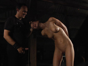 Smuff-gagged slave Deina is spanked and hard played by her Master