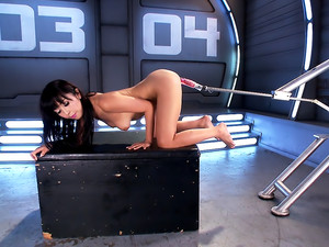 Asian Bombshell First Timer on Fucking Machines!!!