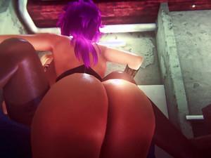 3d porn with Glam Futa babes