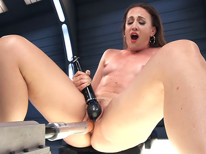 Squirting Pussy and Anal Pounding Drenches Fucking Machines!