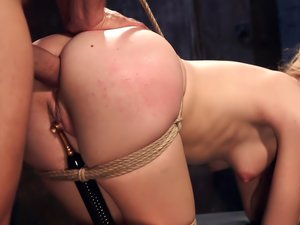 Anal Slut Trained in Hard Bondage Alina West Day Two