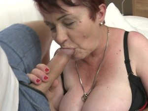 Chubby hairy mature lady getting fucked in POV style