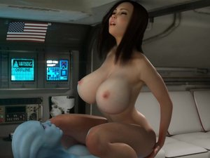 Hot 3d babe works shemales hard cock