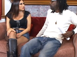 Sheila Marie fucks a huge black dick