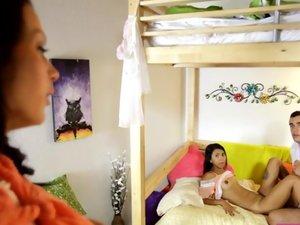 Mom Peeping On Stepdaughter
