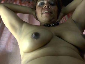 BBW Latina playing with her hairy pussy