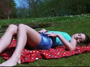 Debauched teen gets laid with dirty old perv outdoors