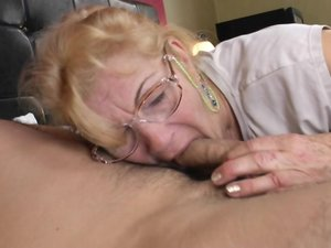 Hairy old lady fucking and licking ass