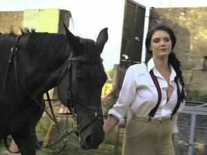 Posh Girl  Emma Leigh Takes a Big Farmer's Cock for a Ride