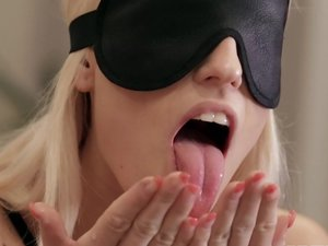 Blanche Bradburry Is Handcuffed, Blindfolded and DP'd by Two Men