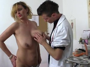 Naughty housewife fucking and sucking the doctor