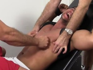 Muscle Stud Tony Tied up and Tickled - Tony