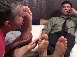 Cole Money and Kenny Kick Back To Get Foot Worshiped - Cole/Kenny