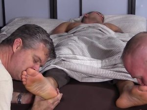 Sexy Hunk KC Foot Worshiped In His Sleep - KC