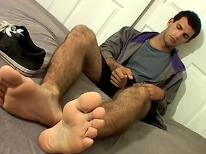 Foot Flashing Str8 Boy Jacks Off - Jackson Skyler