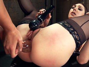 Kimberly Kane gives a diabolically seductive Anal Fisting to Lily LaBeau