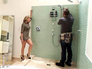 She Seduces The Plumber And Drags Her Hubby In