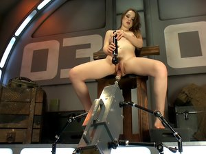 ATTENTION! Hottie on Deck! Our Strawberry Blond Soldier Fucks Machines